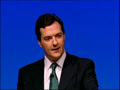 vidéos et rushes de george osborne speech how will we pay for it / you know some advised me when i got to this part of this speech to skip the details / bury it in the... - propriétaire immobilier