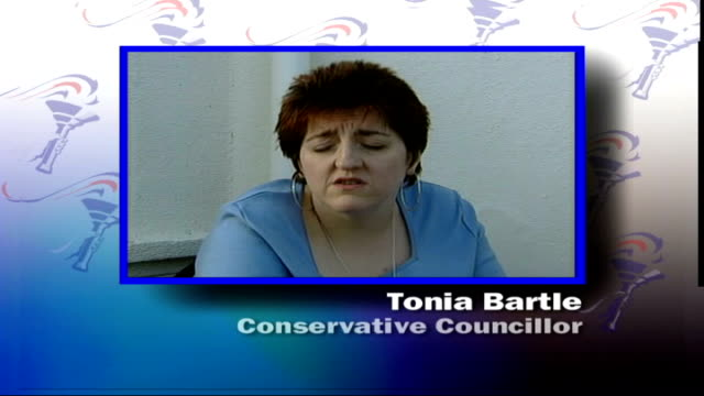 conservative party conference: iain duncan smith speech; england: dorset: bournemouth: int all graphicised shots steve larcombe interview sot - he's... - time of day stock videos & royalty-free footage