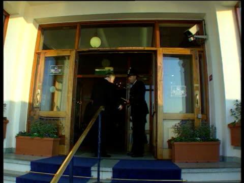 michael portillo speech **original england dorset bournemouth ext gvs michael portilllo mp along with speech michael heseltine mp along norman lamont... - michael heseltine stock videos and b-roll footage