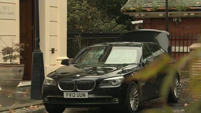 opening day Boris Johnson doorstep ENGLAND London EXT Boris Johnson MP into car and departs