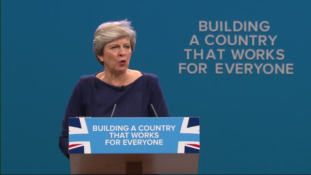 vidéos et rushes de conservative party conference: pm, theresa may speech ; theresa may mp speech continued sot - parti conservateur anglais