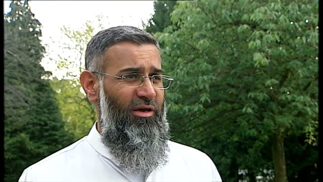 Theresa May speech EXT Anjem Choudary talking with reporter Anjem Choudary interview SOT the measures today prove that its not about organisations...