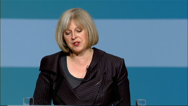 vídeos y material grabado en eventos de stock de conservative party conference: theresa may speech; theresa may speech continued sot - visited shard end estate in east birmingham that has been... - jeremy paxman