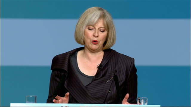theresa may speech theresa may speech continued sot fighting antisocial behavior/ vandalism intimidation drug dealing are not antisocial behavior it... - aggression stock videos & royalty-free footage