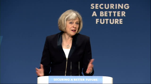 conservative party conference: theresa may speech; theresa may speech continued sot - there will i'm sure, be some who say politicians shouldn't get... - british liberal democratic party stock videos & royalty-free footage