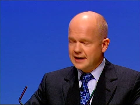 conservative party conference: william hague opening address; - in this government, it is not only their photographs that are fakes / could this be... - fourth occurrence stock videos & royalty-free footage