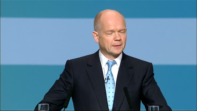 william hague speech hague speech sot it is also why we play a full part in working towards multilateral disarmament in may i announced for the first... - disarmament stock videos and b-roll footage