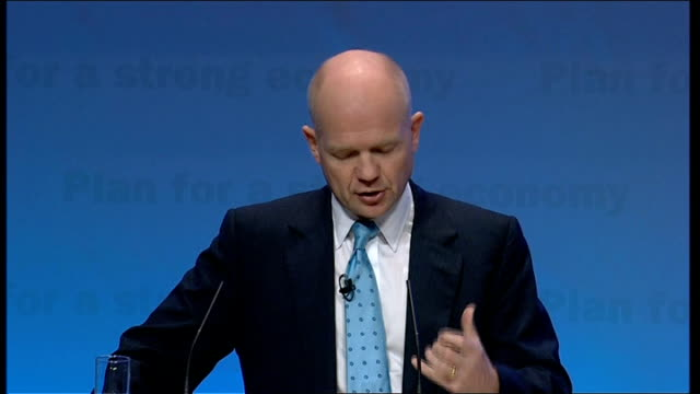 william hague speech william hague speech continued sot but it is also vital at all times to uphold our own values of respect for the rule of law... - humility stock videos and b-roll footage