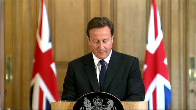 vidéos et rushes de david cameron monthly press conference england london downing street int david cameron mp enters press conference david cameron press conference sot... - prince philip