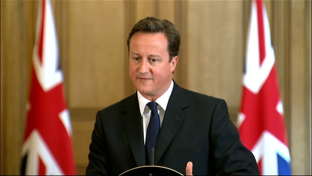 david cameron monthly press conference; question sot - prime minister, why did you get the sentencing policy so wrong in the first place, or is it... - 50 seconds or greater stock-videos und b-roll-filmmaterial