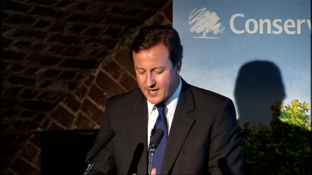 vídeos de stock, filmes e b-roll de david cameron speech on social action cameron speech sot this year the project will expand to include a group of lawyers working on legal reform in... - especia