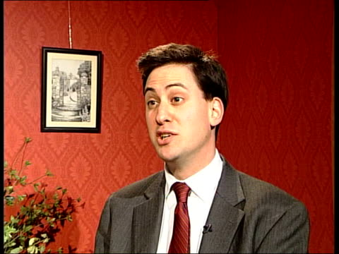 david cameron wins leadership race; itn ed miliband mp interview sot - there is no doubt that david cameron will present a new gloss, new salesman... - double chance stock videos & royalty-free footage