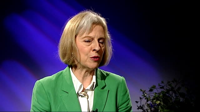 vídeos y material grabado en eventos de stock de conservative party debates how to tackle threat from ukip theresa may interview england london int theresa may mp interview sot - 2013