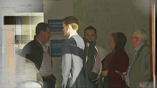 stockvideo's en b-roll-footage met conservative party election expenses investigation ukip asks dpp to investigate taken from t12021641 newark various of people around entrance to... - ramsgate