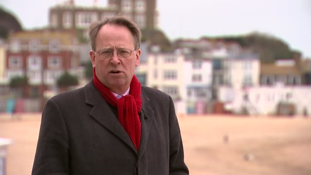 stockvideo's en b-roll-footage met conservative party election expenses investigation ukip asks dpp to investigate kent ramsgate reporter to camera sot - ramsgate