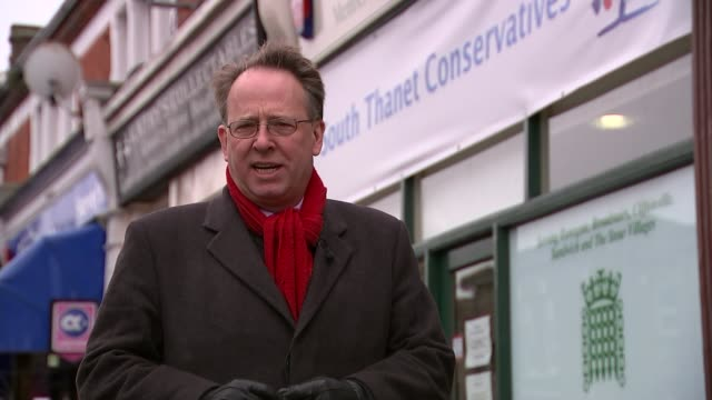 conservative party election expenses investigation ukip asks dpp to investigate kent ramsgate sign over constituency offices of south thanet... - ramsgate video stock e b–roll