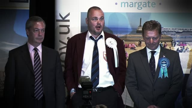 conservative party election spending investigation: battlebus 2015 allegations; lib / 8.5.2015 kent: int returning officer reading out results of... - al murray stock videos & royalty-free footage