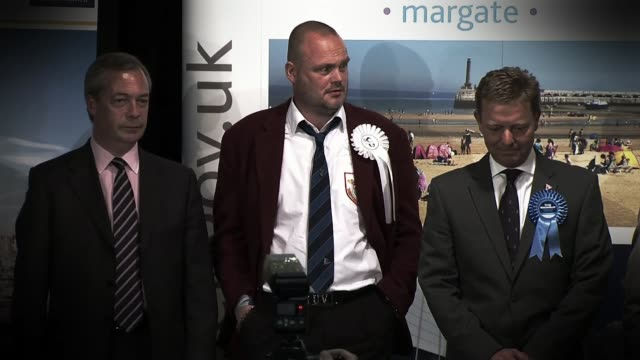 conservative party election spending investigation: battlebus 2015 allegations; lib / 8.5.2015 kent: returning officer reading out results of vote in... - al murray stock videos & royalty-free footage