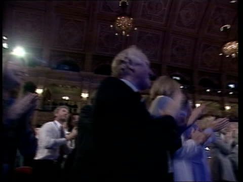 Iain Duncan Smith leadership crisis LIB Blackpool Duncan Smith receiving applause at Conservative Party conference William Hague MP on stage with...