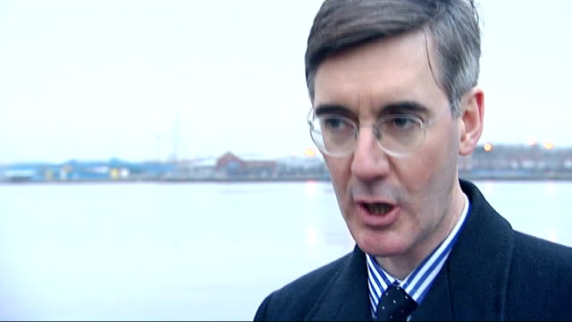 jacob reesmogg visits south shields ext reesmogg walking onto sea wall jacob reesmogg sot south shields is undoubtedly tribally labour / that will... - south shields stock videos & royalty-free footage