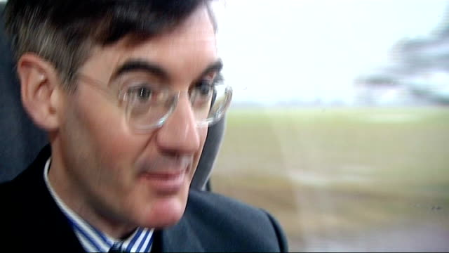 jacob reesmogg visits south shields jacob reesmogg sot my aim is to appeal to voters in north east somerset pov shot through window of passing... - south shields stock videos & royalty-free footage