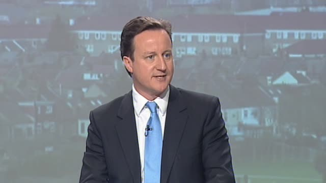 Conservative Party leader David Cameron pledges new manifesto for Britian's youth at press conference London 8 April 2010