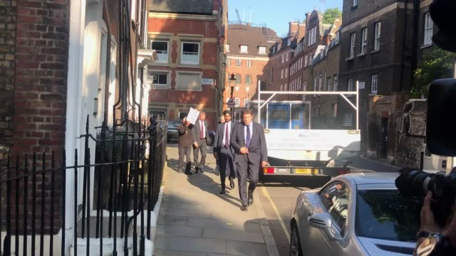 conservative party leadership contender boris johnson arrives at his office in westminster london britain will learn who its next prime minister will... - boris johnson stock videos and b-roll footage