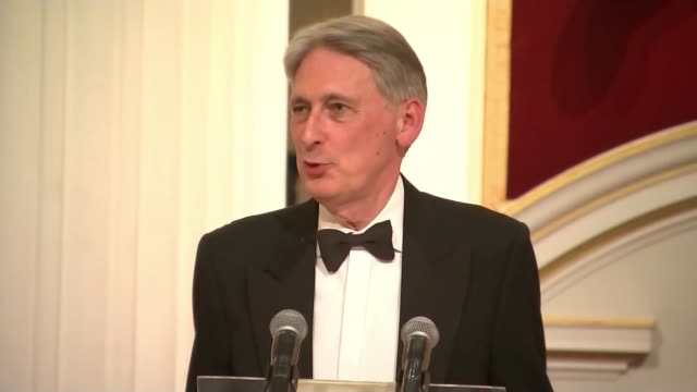 boris johnson and jeremy hunt through to final round england london mansion house philip hammond mp up to podium and speech sot do you all know... - jeremy corbyn stock videos and b-roll footage