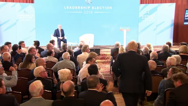 conservative party leadership contest: boris johnson and jeremy hunt both say they'd replace irish backstop; northern ireland, belfast, culloden... - out of context stock videos & royalty-free footage