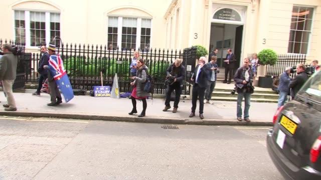 boris johnson campaign launch arrivals england london carlton house terrace ext theresa villiers mp arriving for the launch of boris johnson's... - satire stock videos & royalty-free footage