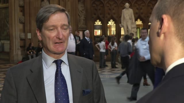 boris johnson faces questions over altercation with carrie symonds england london westminster houses of parliament lobby int dominic grieve mp... - dominic grieve stock videos and b-roll footage