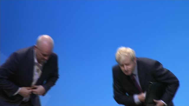 Boris Johnson refuses to answer questions about police visit to his home ENGLAND West Midlands Birmingham The ICC EXT Boris Johnson MP from car as...