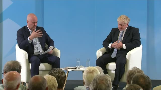 conservative party leadership contest: boris johnson says he has no recollection of calling the french turds; england: exeter: sandy park: int boris... - exeter england stock videos & royalty-free footage