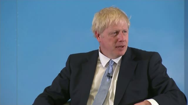 boris johnson under pressure to debate with jeremy hunt uk devon exeter boris johnson mp and jeremy hunt mp speaking at hustings event england devon... - boris johnson stock videos & royalty-free footage