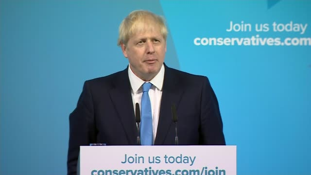 boris johnson wins battle to become tory leader and prime minister uk london boris johnson mp announced as leader of the conservative party johnson... - boris johnson stock videos and b-roll footage