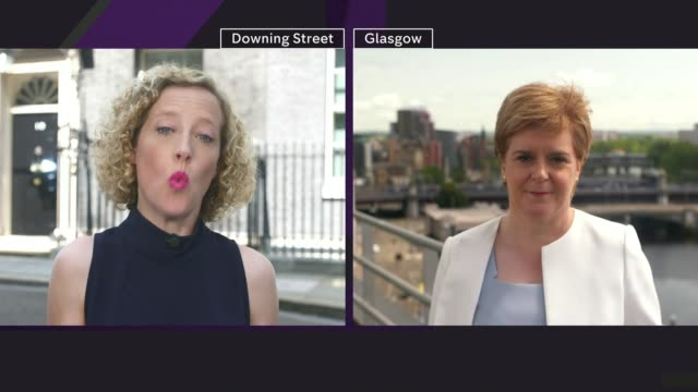 conservative party leadership contest: boris johnson wins battle to become tory leader and prime minister; scotland: glasgow: ext nicola sturgeon msp... - member of the scottish parliament stock videos & royalty-free footage