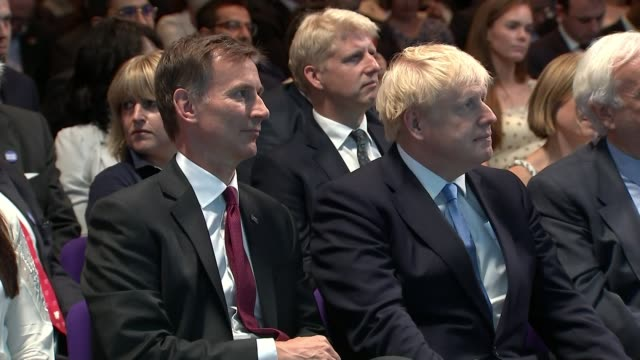 conservative party leadership contest: boris johnson wins battle to become tory leader and prime minister; uk, london, westminster, qeii;... - premierminister stock-videos und b-roll-filmmaterial