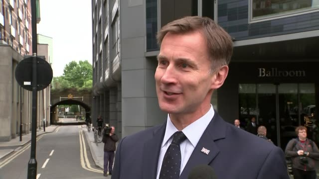 boris johnson's rivals refuse to step aside england london ext jeremy hunt mp interview sot dominic raab mp interview sot boris johnson mp away to... - attending stock videos and b-roll footage
