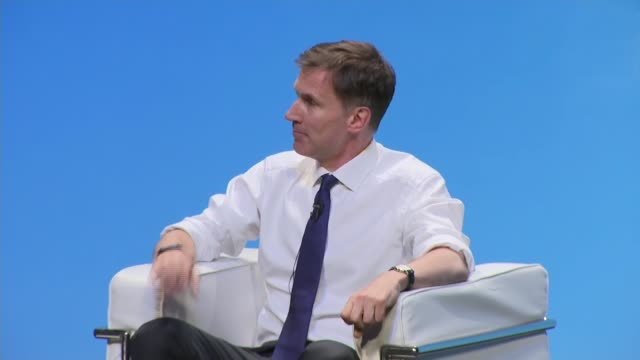 candidates face questions from members in birmingham hustings england birmingham int jeremy hunt mp question and answer session with iain dale sot... - midlands occidentali video stock e b–roll