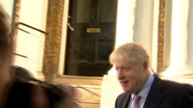 candidates prepare for second ballot england london boris johnson mp towards from home and past press along to car - itv lunchtime news stock videos and b-roll footage