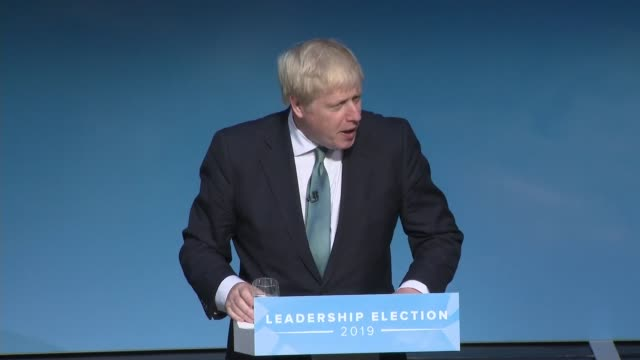 conservative party leadership contest: darlington hustings: boris johnson; england: county durham: darlington: int boris johnson mp speech to... - darlington north east england stock videos & royalty-free footage