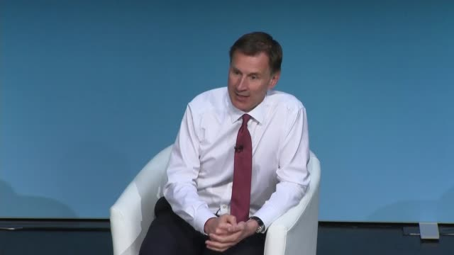 darlington hustings jeremy hunt england county durham darlington int jeremy hunt mp question and answer session with hannah vaughan jones sot part 3... - darlington north east england stock videos & royalty-free footage
