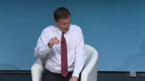 conservative party leadership contest: darlington hustings: jeremy hunt; england: county durham: darlington: int jeremy hunt mp question and answer... - darlington north east england stock videos & royalty-free footage