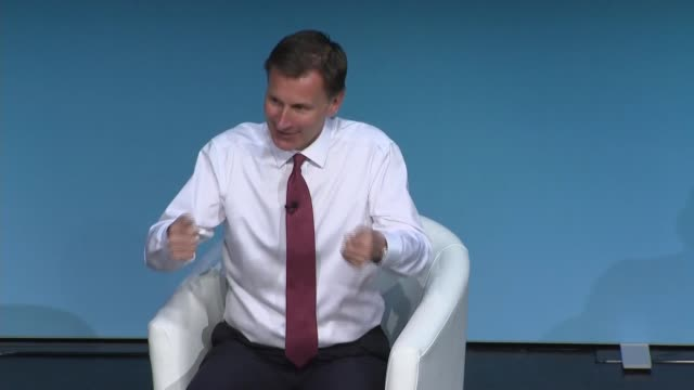 darlington hustings jeremy hunt england county durham darlington int jeremy hunt mp question and answer session with hannah vaughan jones sot part 6... - darlington north east england stock videos & royalty-free footage