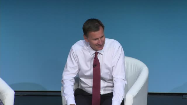 darlington hustings jeremy hunt england county durham darlington int jeremy hunt mp question and answer session with hannah vaughan jones sot part 8... - darlington north east england stock videos & royalty-free footage