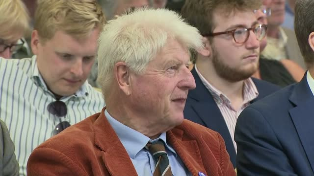 exeter hustings cutaways england devon exeter int cutaways of hustings event including audience members / boris johnson mp arriving to applause sot /... - boris johnson stock videos & royalty-free footage