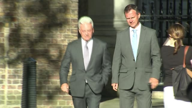 final day of voting / sir alan duncan resigns uk london arrivals at number 10 downing street for farewell party for outgoing prime minister theresa... - office politics stock videos & royalty-free footage