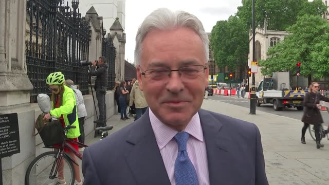first round of voting has boris johnson on top england london westminster ext sir alan duncan mp interview sot [on jeremy hunt] i hope he'll do very... - alan duncan stock-videos und b-roll-filmmaterial