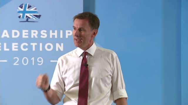 conservative party leadership contest: jeremy hunt addresses exeter hustings; england: devon: exeter: int jeremy hunt mp speech to exeter hustings... - exeter england stock videos & royalty-free footage