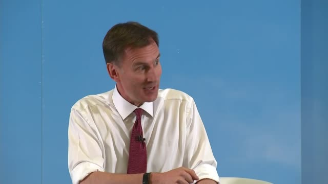 conservative party leadership contest: jeremy hunt addresses exeter hustings; england: devon: exeter: int jeremy hunt mp question and answer session... - exeter england stock videos & royalty-free footage